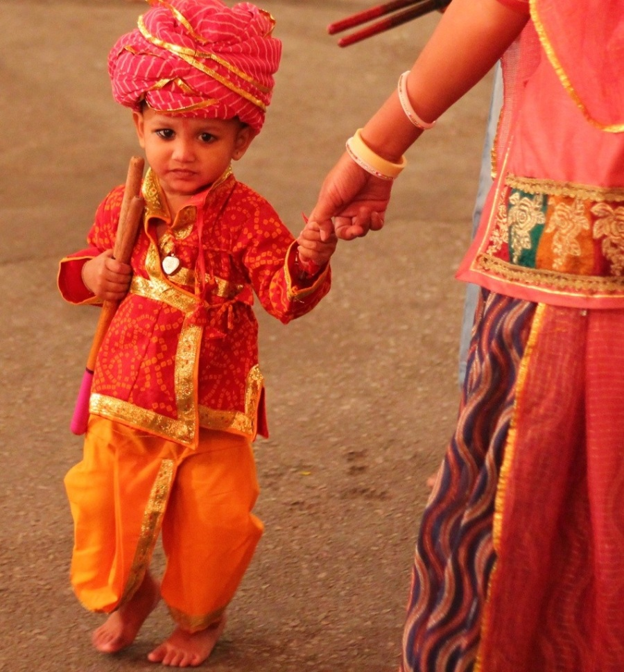 Child at Navratri Festival in Udaipur
