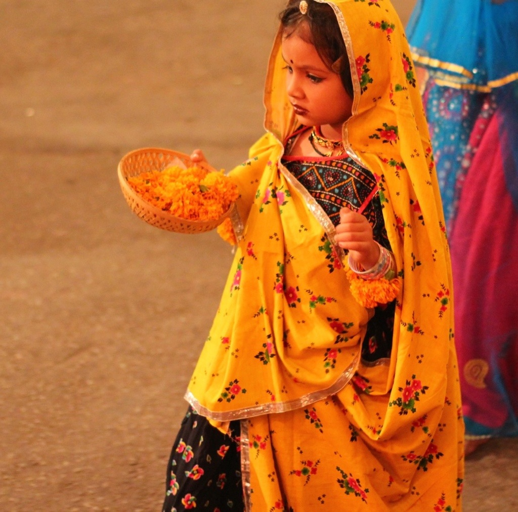Child at Udaipur Festival in India
