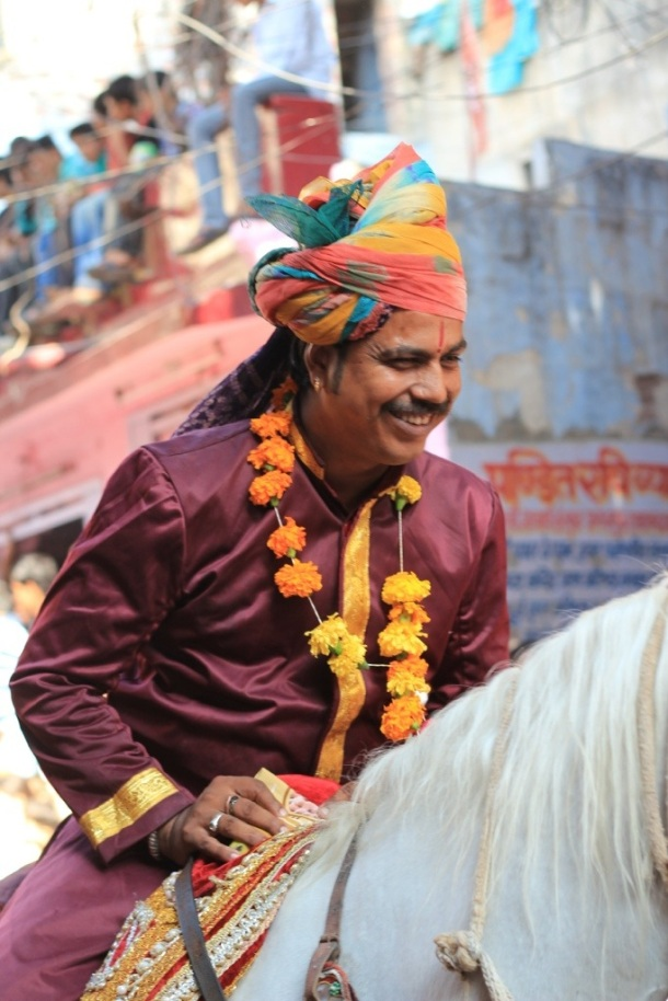 India Festival man on horse