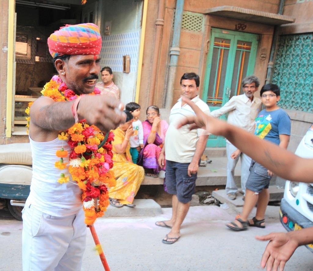 Indian festival leader