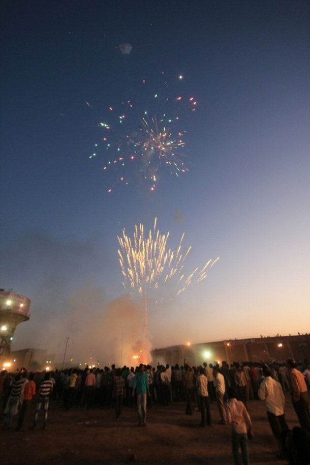 Awesome festival fireworks in India
