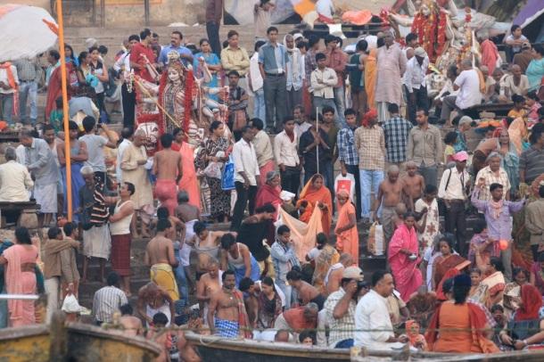 Varanasi bathers
