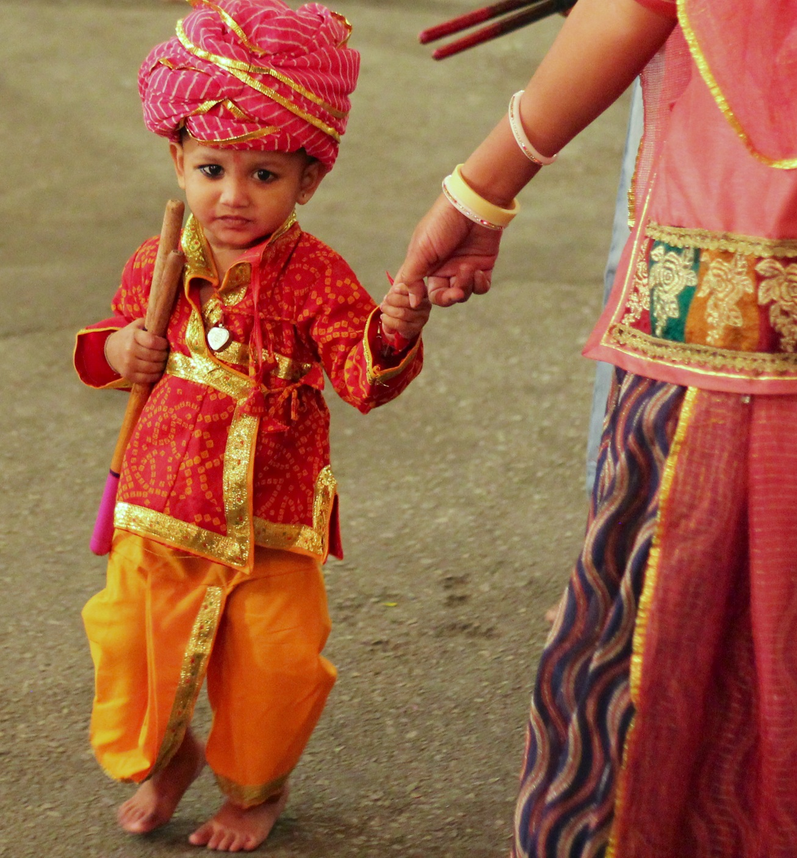 Boy at the Navratri Festival