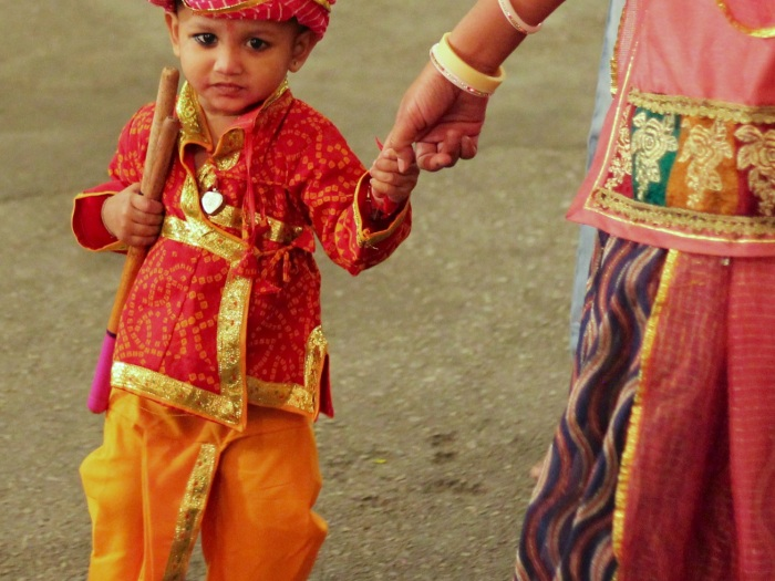 Boy at the Navratri Festival