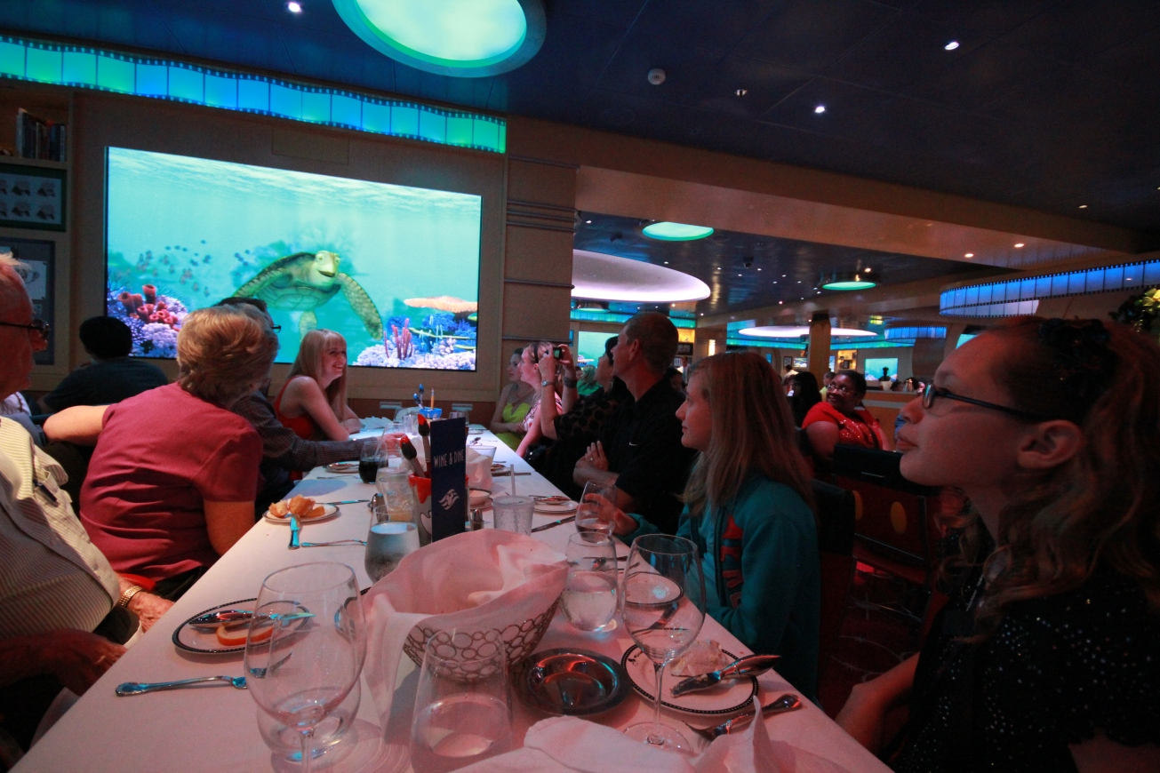 At the Artists Palate Dining room, animated characters interacted with the diners. This was cool, even for a big kid like me.
