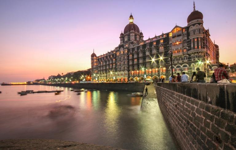 The stunning Taj Hotel in Mumbai