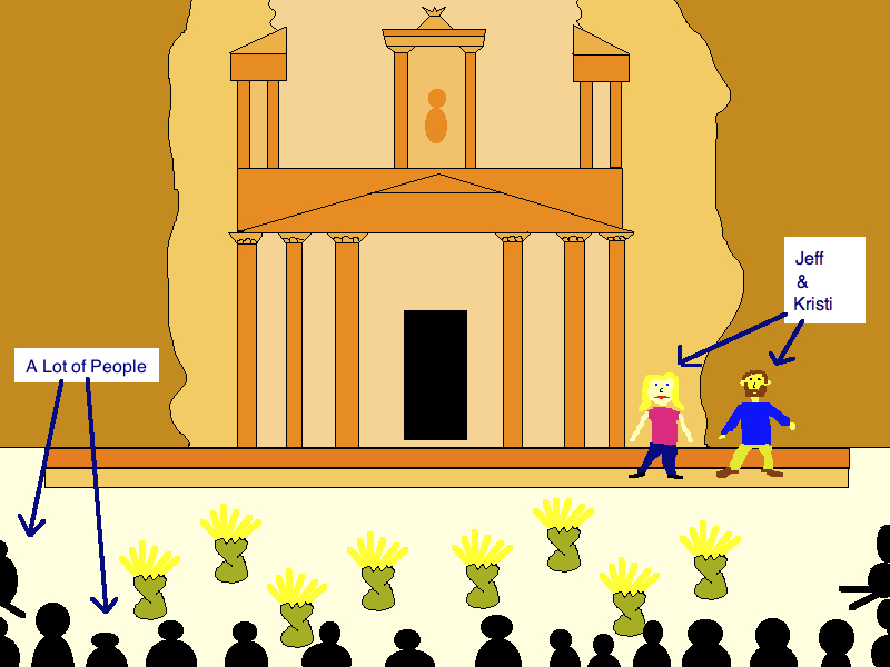 Petra Travel Cartoon