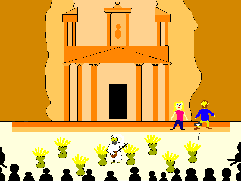 Travel Cartoon of Petra