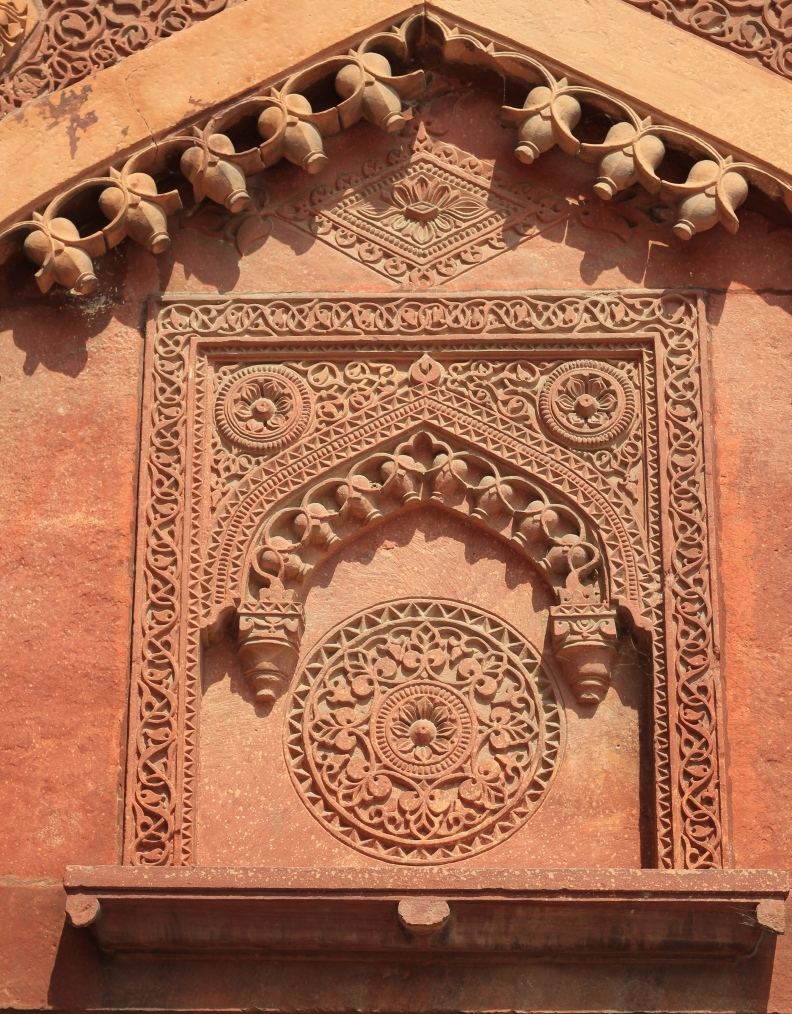 Carvings in the red fort, Agra