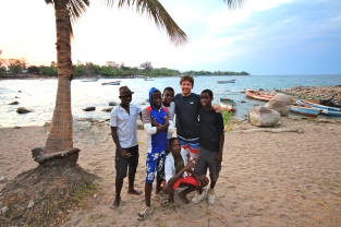 A group of middle-school aged boys that kept visiting me at Chizimulu