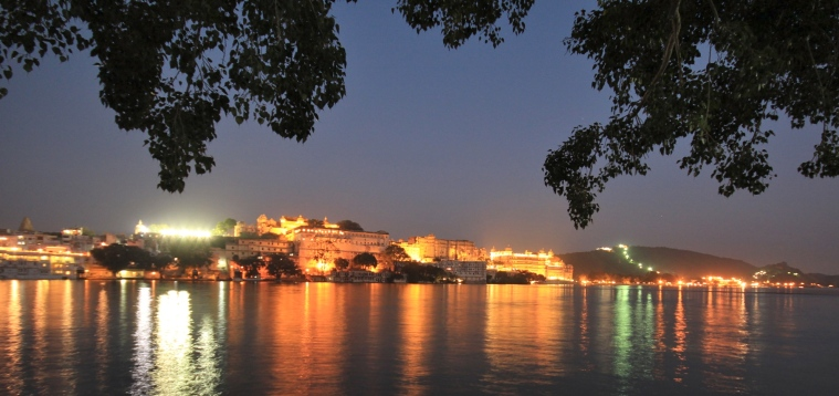 City Palace at night, Udaipur