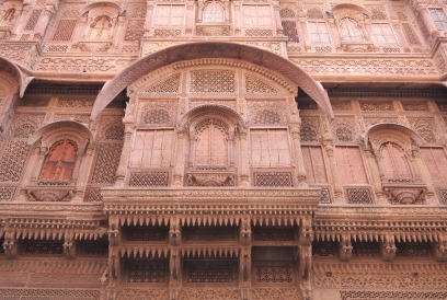 Intricate sandstone carvings, Mehrangarh Fort