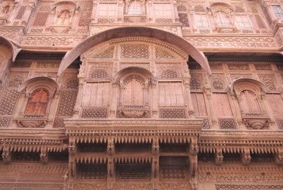 Intricate sandstone carvings, Mehrangarh Fort
