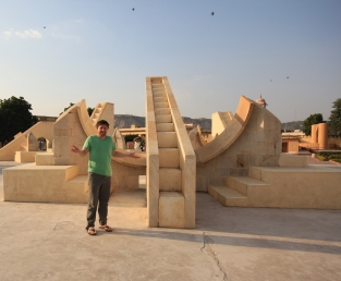 Sun dial at the Jantar Mantar, Jaipur