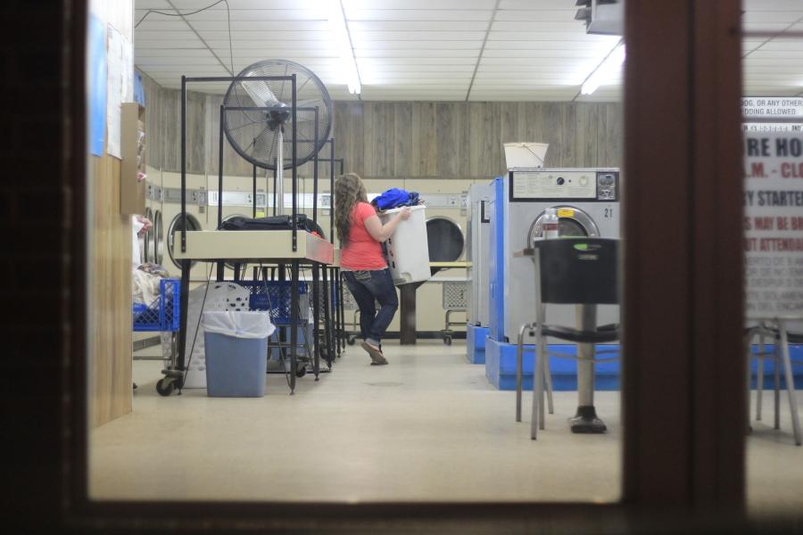 Person doing Laundry / Creepy