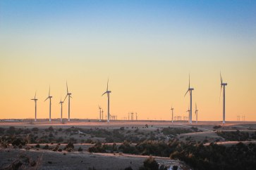 Oklahoma Wind Turbine Sunset