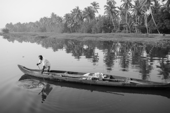 Man on boat in kerala