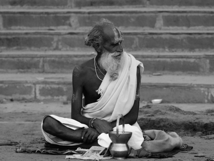 holy man in varanasi II
