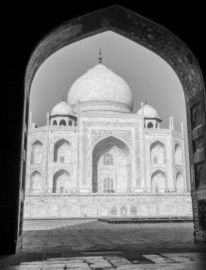Taj Mahal black and white framed