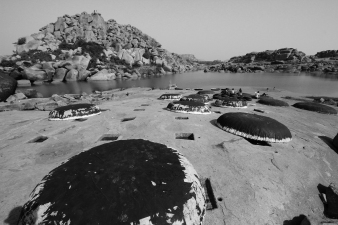 Round boats in Hampi