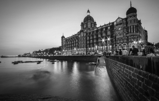 Mumbai Taj Hotel in Black and White