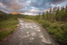 Riley Creek at sunset