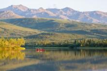 Canoe on Otto Lake
