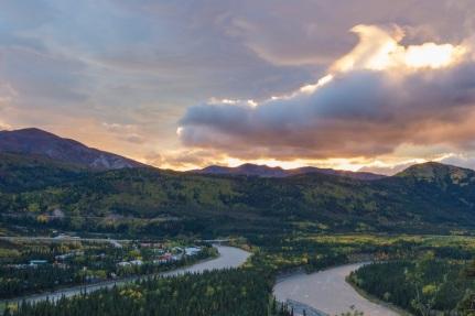 Sunset in Denali National Park.