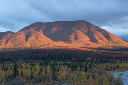 The setting sun created an incredible scene as the low light lit up the landscape.