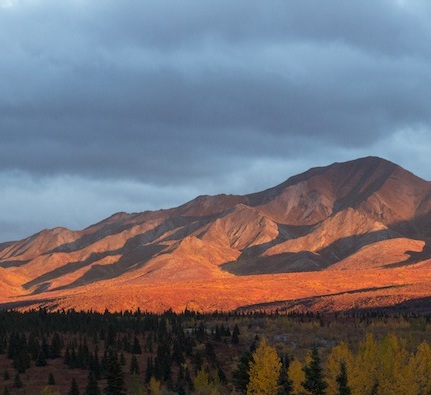 The light slipped through the clouds for a brief second, creating this incredible scene.