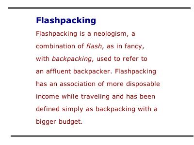 Flashpack define
