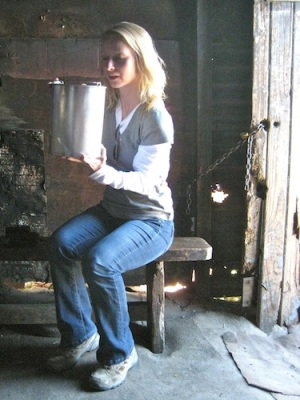 Maybe she isn't that high maintenance. She did, after all, drink beer from a bucket in an African slum.