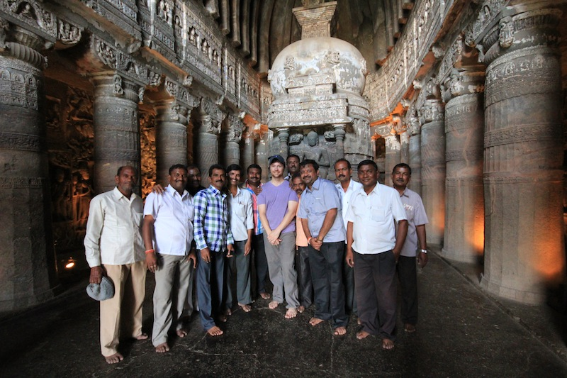 Ellora Caves Tourist with Locals