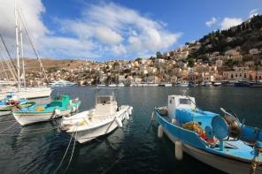 Symi Greece Boats