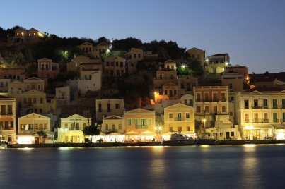 Symi nightlife night photo