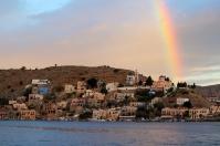 Rainbow Symi Sunrise