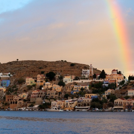 Rainbow Symi Sunrise