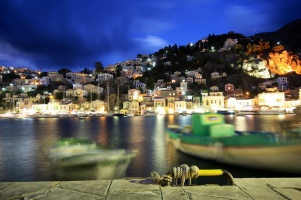 Symi at night nightlife