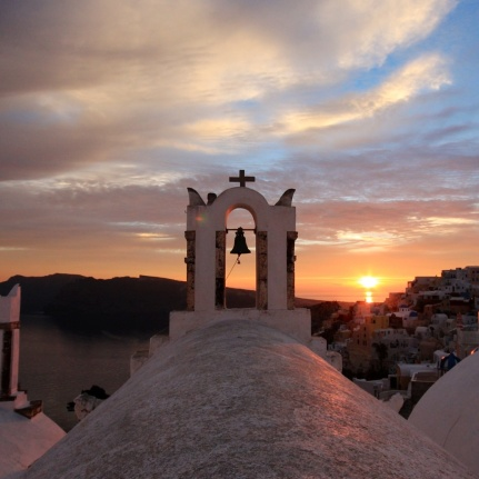 Santorini Sunset Church Bells