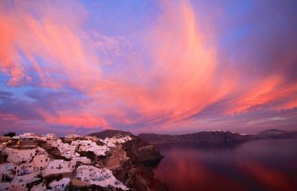 Fira sunset Santorini