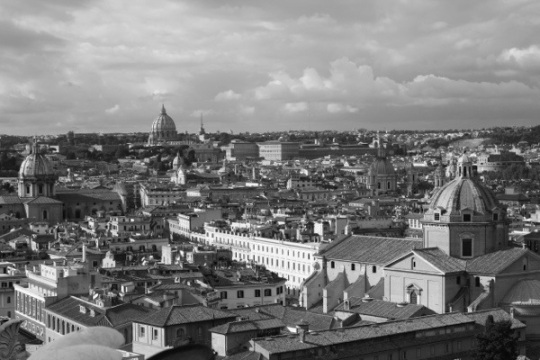 Rome black and white