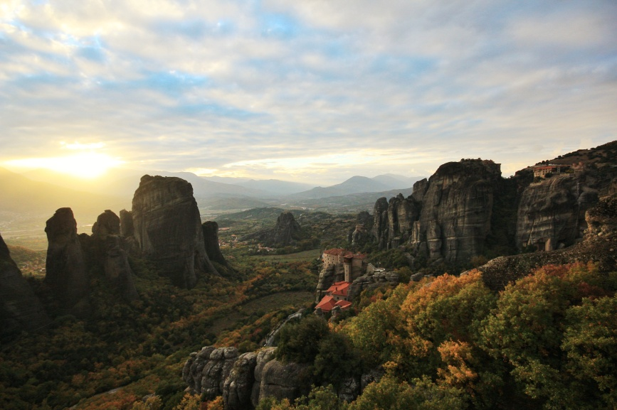 Meteora Greece Sunset