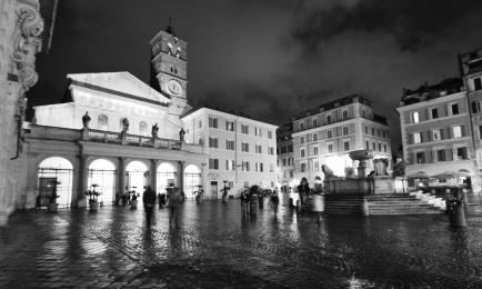 black and white Rome photos