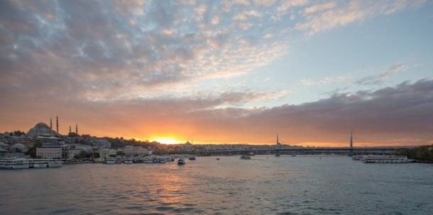 Galata Bridge Sunset
