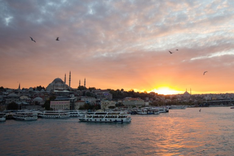 Galata Bridge at Sunset
