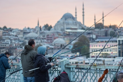 Galata Bridge Fisherman