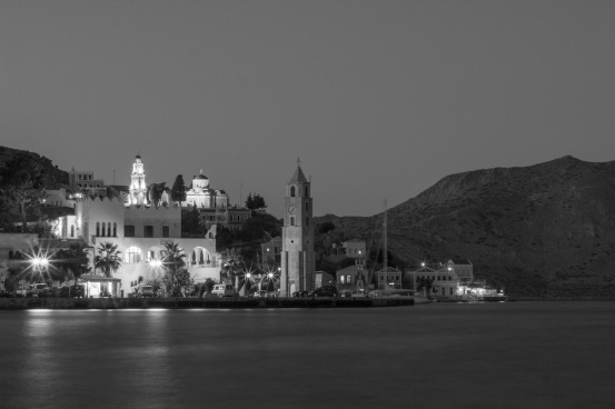Symi Clock Tower B&W