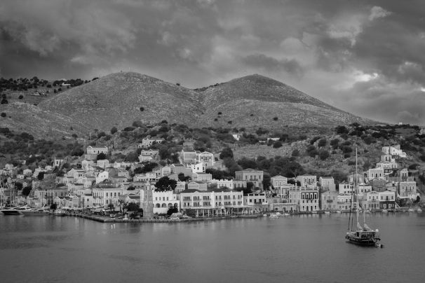 Symi Sunrise Black and White