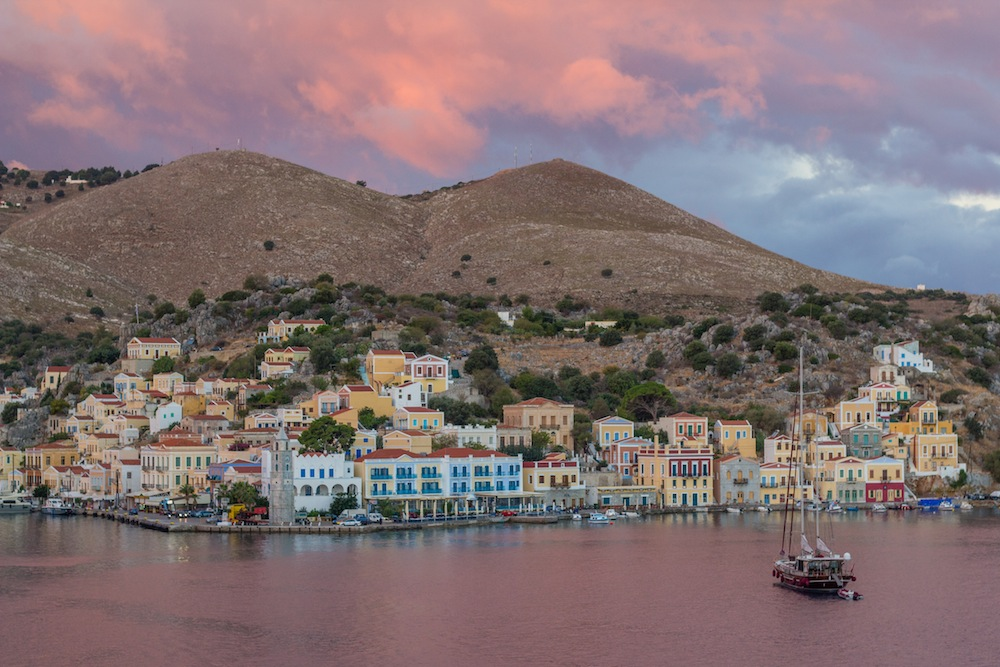 Symi harbor sunrise