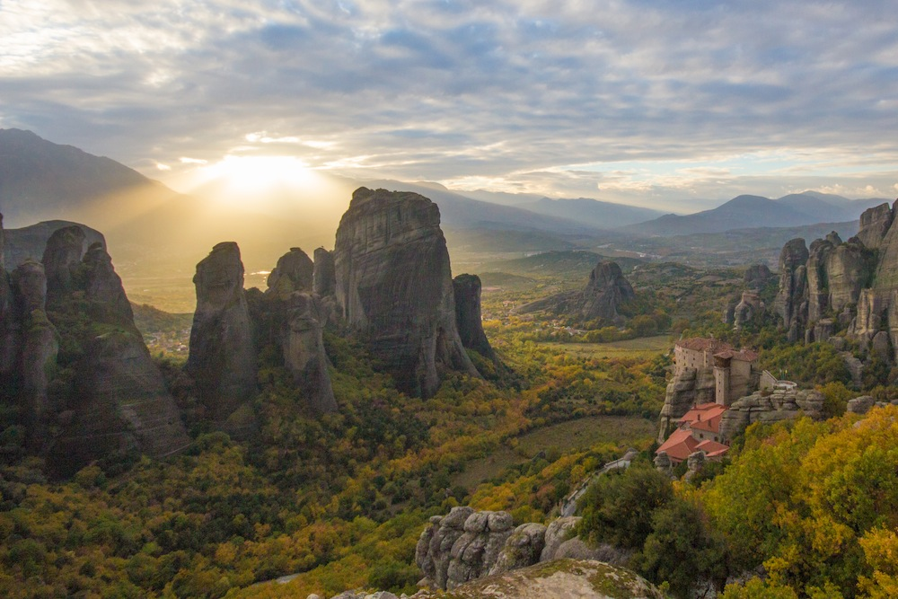 Sunset at meteora